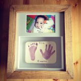 Framed clay imprint with photo £65
