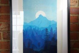 Blue Lookout Framed 1