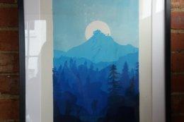 Blue Lookout Framed 2