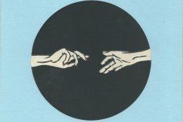 Reaching Hands Blue