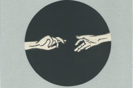 Reaching Hands Grey