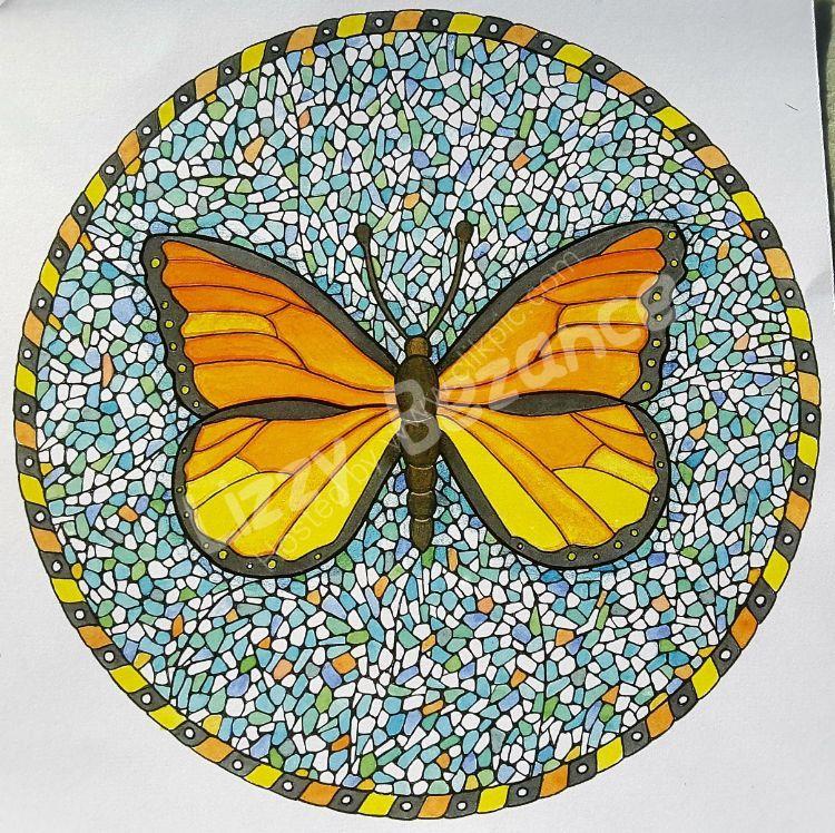 Mosiac butterfly