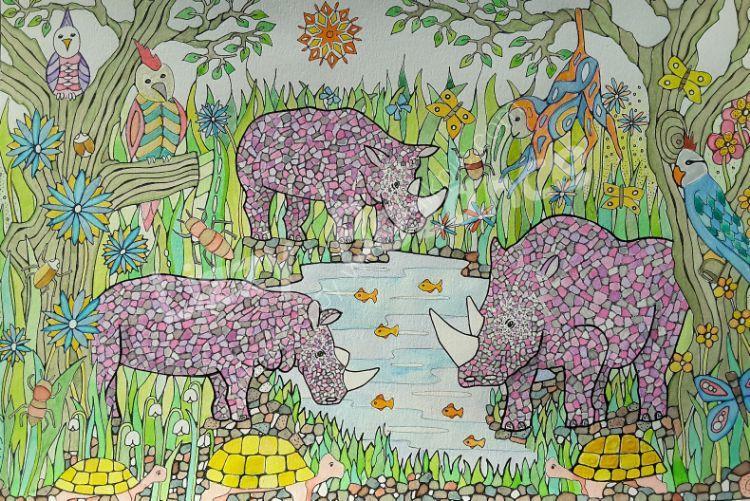 Pink rhinoseros