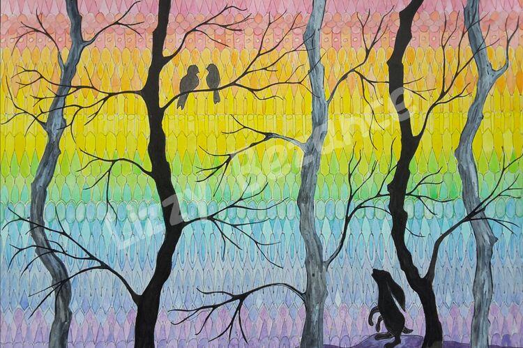 Rainbow woodland