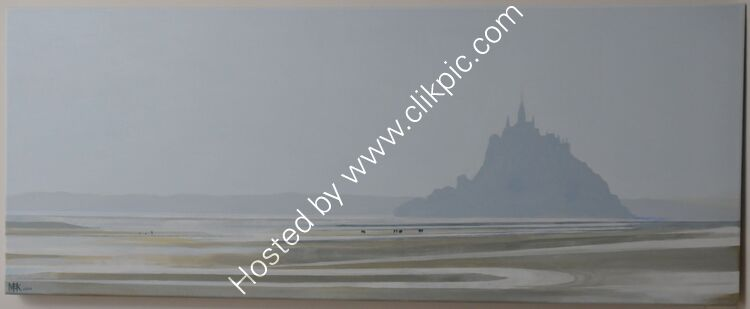 Misty Morning Mont St Michel from Genets