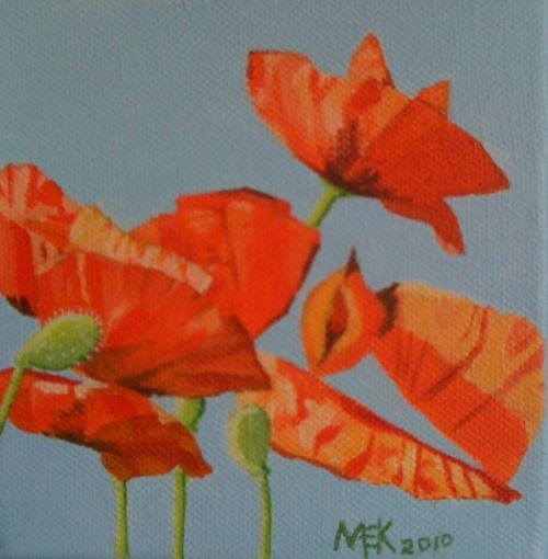 Poppies II - acrylic