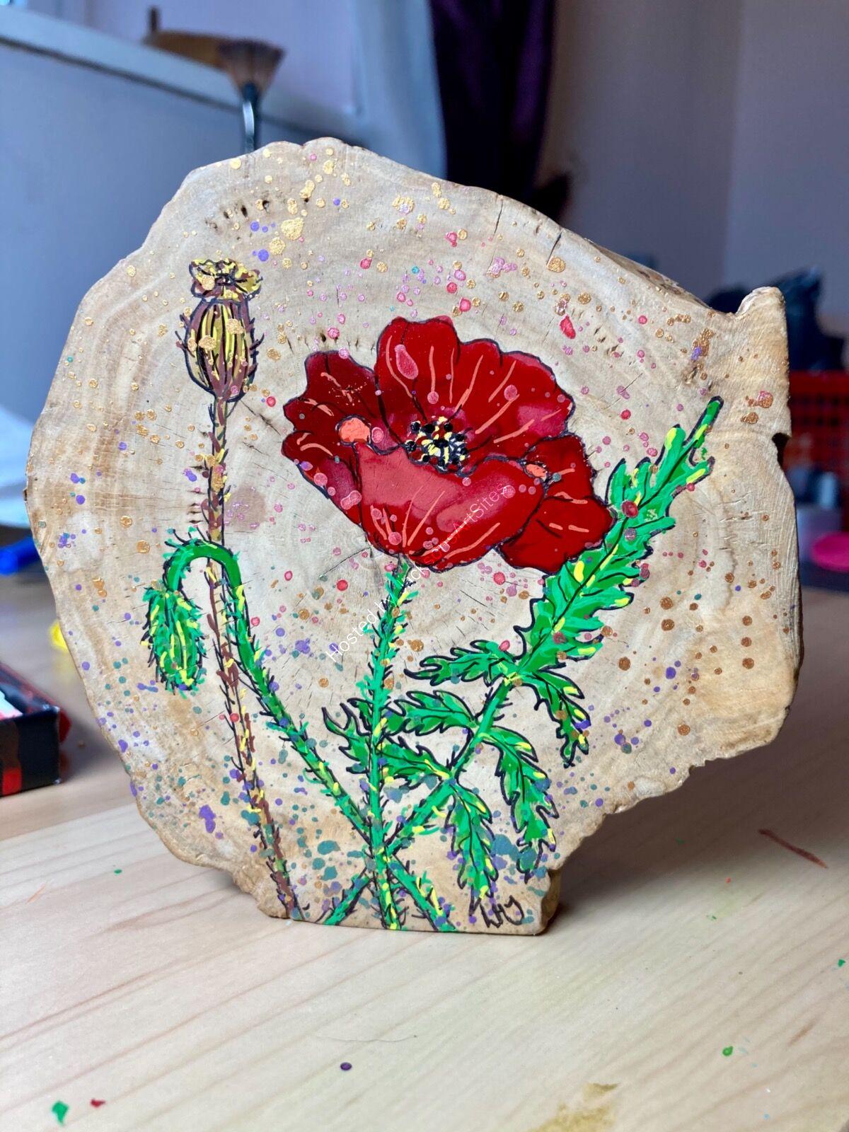 Poppy Ornament SOLD