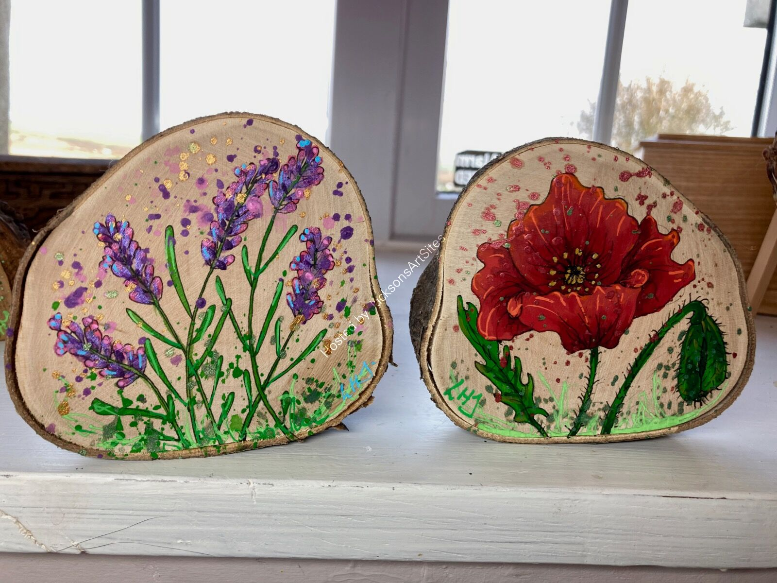 Lavender and Poppy SOLD