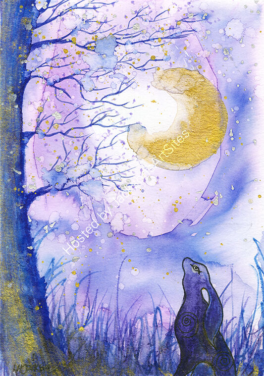 Moon Gazing Hare SOLD