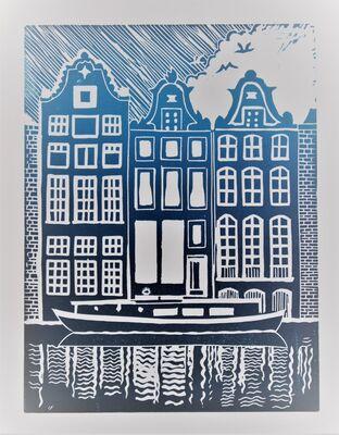 Amsterdam - lino print