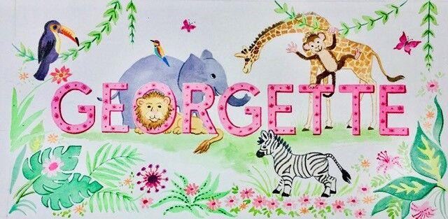 Name painting Georgette