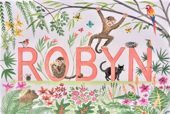 Name painting Robyn