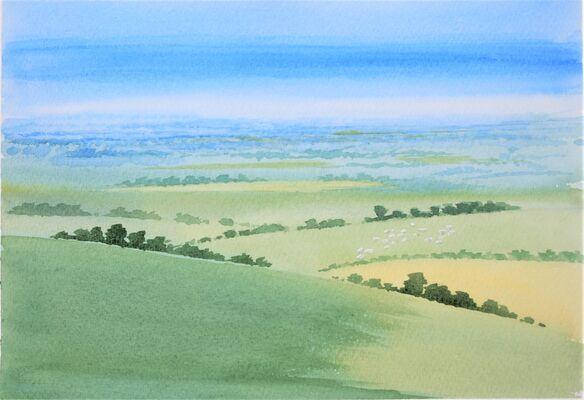 North Hampshire Downs watercolour