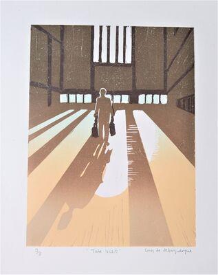 Tate visit - lino print