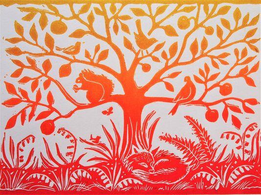 Tree of Life - lino print