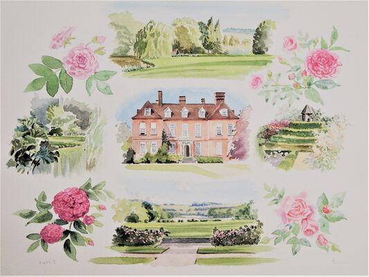 cameos, house , garden and roses