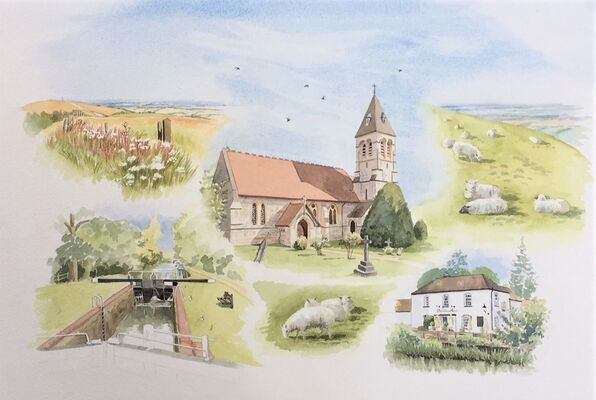 West woodhay church and scenes
