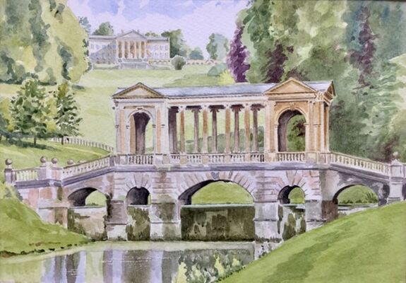 palladian bridge watercolour