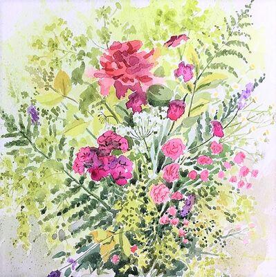 summer flowers watercolour