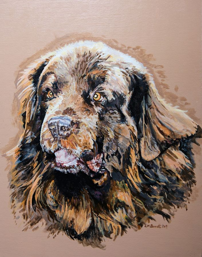 Pet Dog Portrait Painting, Nelson