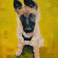 'Untitled' German Shepherd Dog Portrait