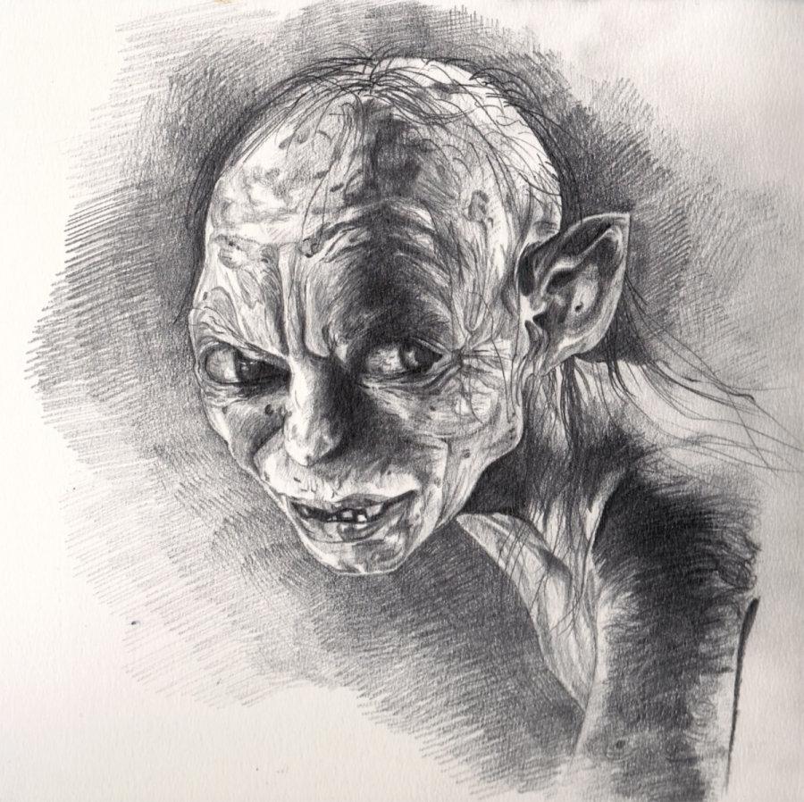 Gollum Pencil Sketch