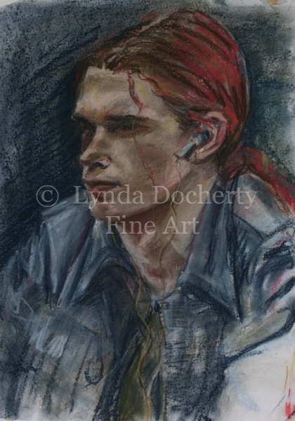 'Young Man' - pastel portrait from life.
