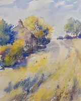Meadow Farmhouse.    Watercolour