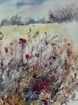 Autumn Tagles and Weaves.    Watercolour & Ink