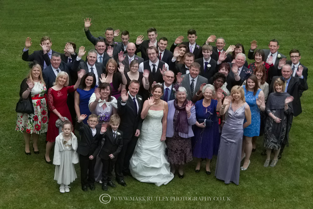 A big wave from the Bride, Groom and Guests