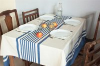 1115251-Hand Woven Cotton Tablecloth