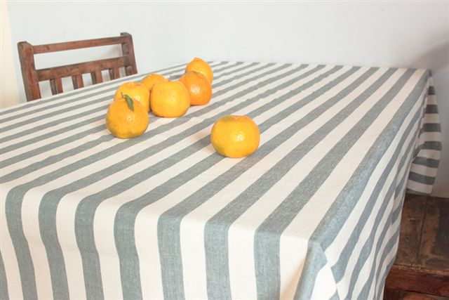 1115252-Hand Woven Cotton Tablecloth