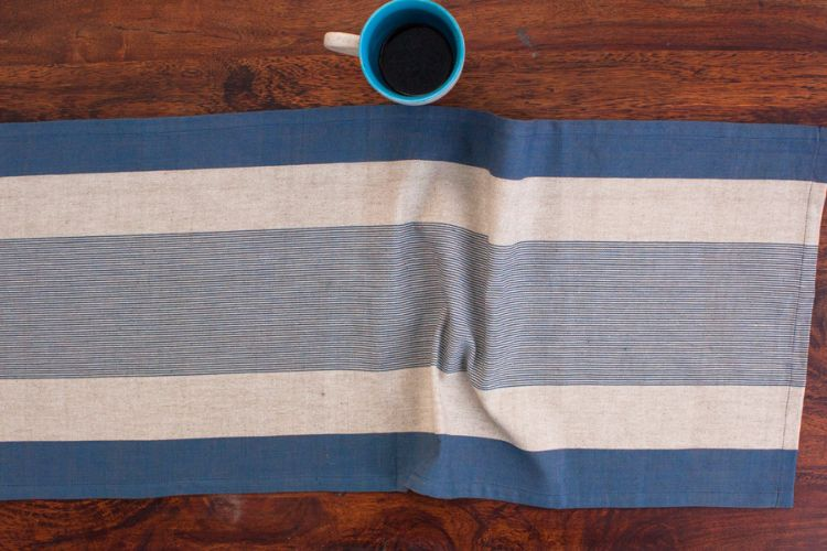 1118263-Hand Woven Cotton Table Runner