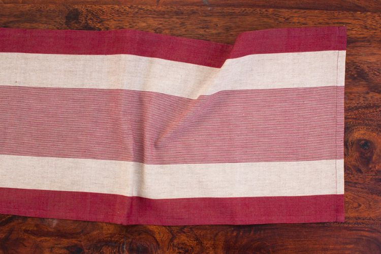 1118264-Hand Woven Cotton Table Runner