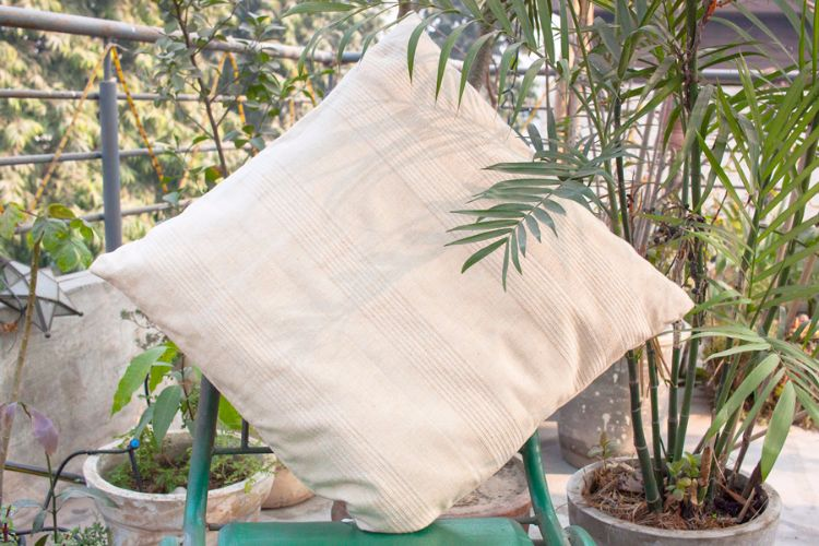 1121179-Hand Woven Cotton Cushion Cover
