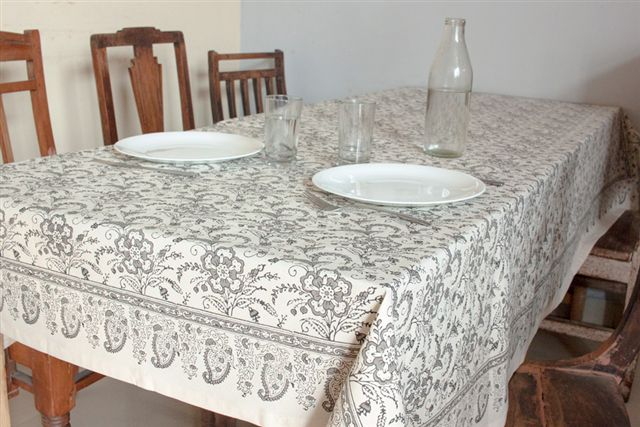 1415248-Hand Block Printed Tablecloth