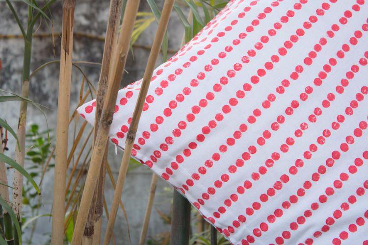 1421187-Organic Cotton Block Printed Cushion Cover