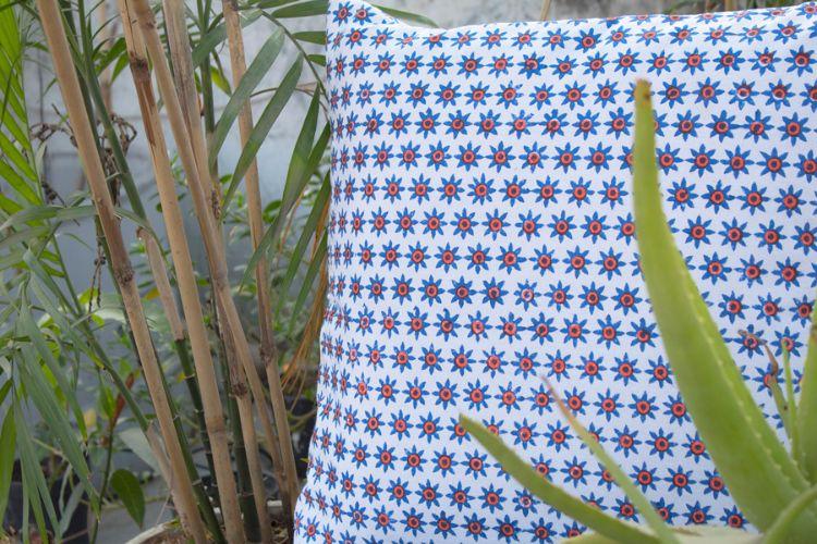 1421190-Organic Cotton Block Printed Cushion Cover