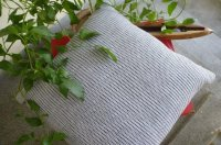 2521284-Cotton Hand-Woven Cushion  Cover