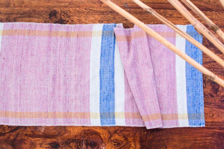 2818255-Eri Silk Hand Woven Table Runner