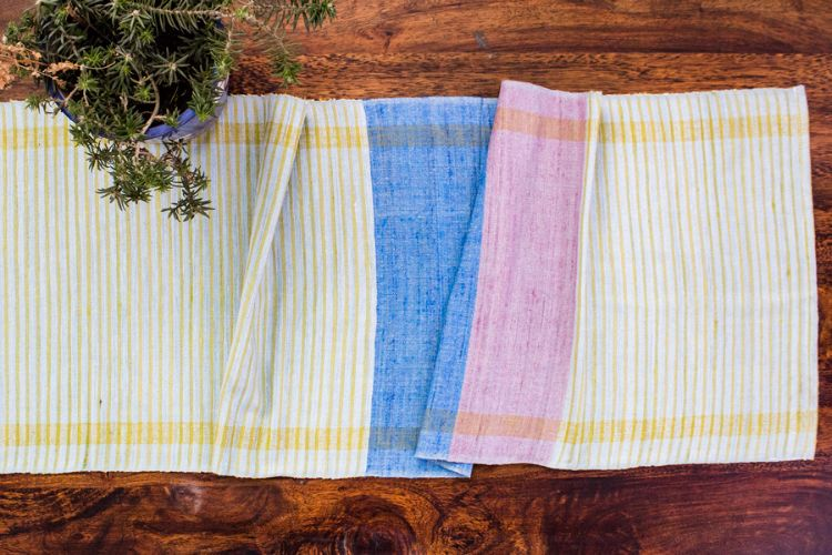 2818275-Eri Silk Hand Woven Table Runner