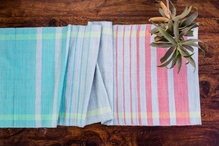 2818278-Eri Silk Hand Woven Table Runner