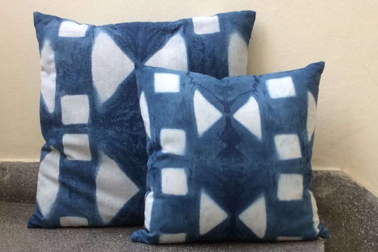 2821208-Cotton Indigo Cushion Covers