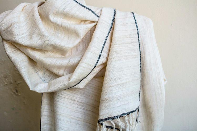 2822332-Eri Silk  Hand  Spun  &  Hand Woven
