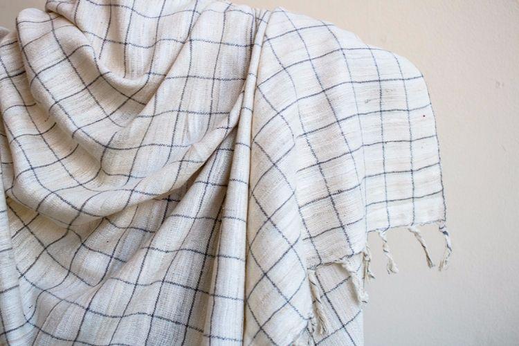 2822333-Eri Silk Hand Spun & Hand Woven