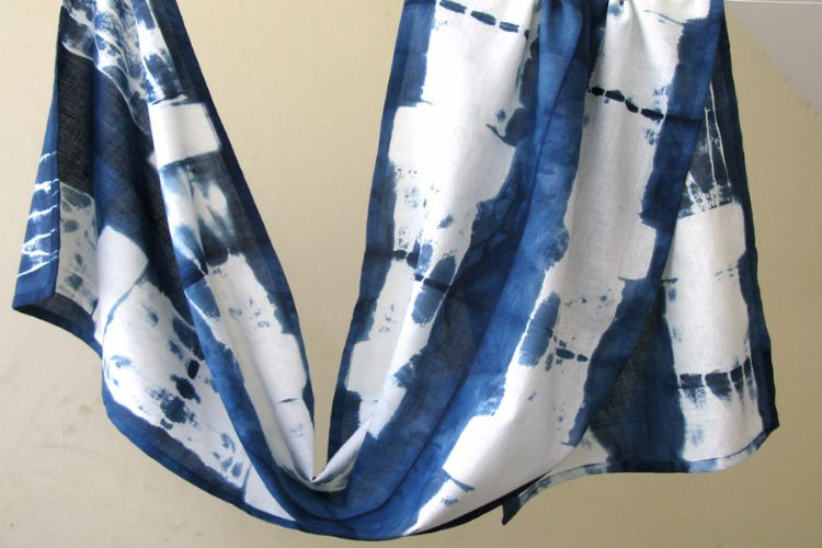 2822503-Indigo Cotton Scarf