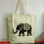 4811584-Printed Canvas Bag