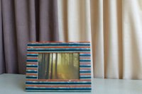 7613318-Striped Photo Frame