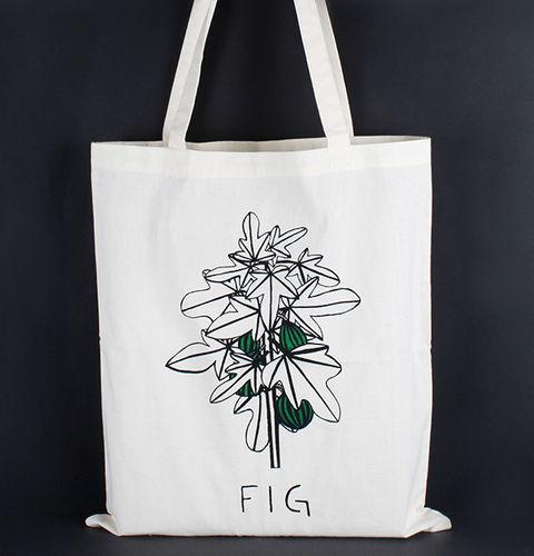 1411767 Tote Bag - Fig Print
