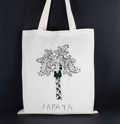 1411769 Tote Bag - Papaya Print